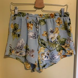 Pants - Blue tropical Shorts